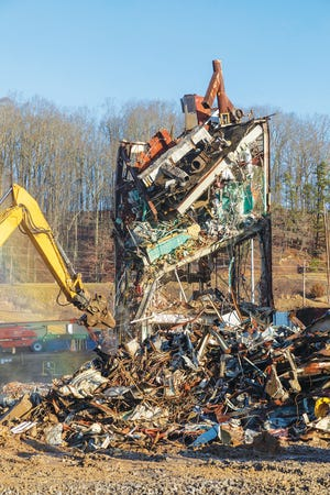 Demolition at Building 9210.