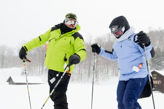 Marcy residents Andrew Reath and Jeannine Murtaugh Reath ski during sub-zero temperatures in 2018 at McCauley Mountain in Old Forge.