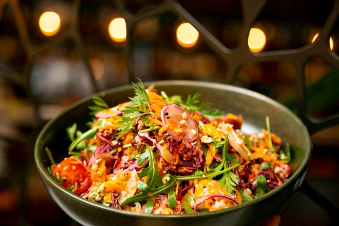 Local vegetable salad is served at Stage, chef Pushkar Marathe's Indian-inspired restaurant in Palm Beach Gardens.