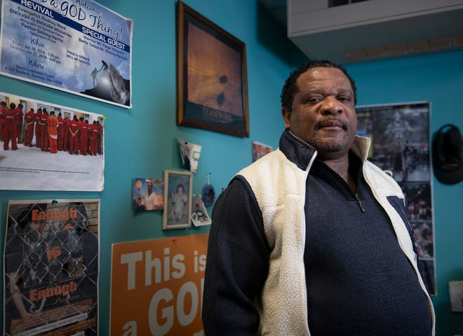 Rodney Mack founded and is the director for Enough Is Enough, a new non-profit that helps people who have been incarcerated re-enter society. Mack stands for a portrait in the Enough Is Enough office in Ravenna.