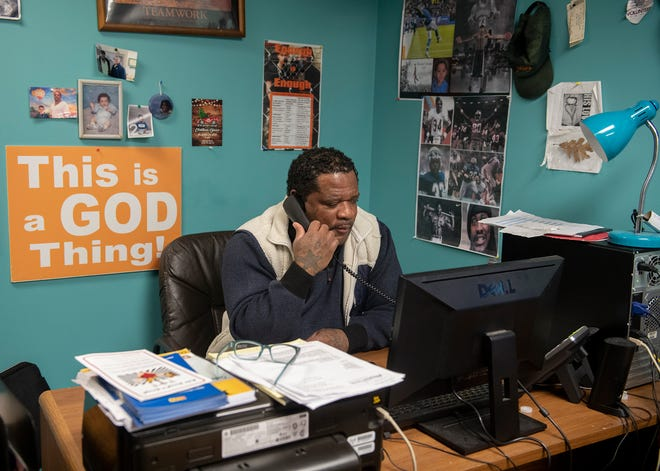 """""""This is a passion to me,"""" says Rodney Mack, founder Ohio Enough Is Enough, which helps people who have been incarcerated reenter society."""