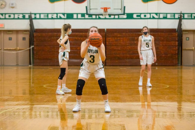 Boylan's Madison Harter shoots a free throw in the fourth quarter of a 42-40 loss to Auburn. The Titans are 0-2 in large part because they have made just 24 of 54 free throws this season.