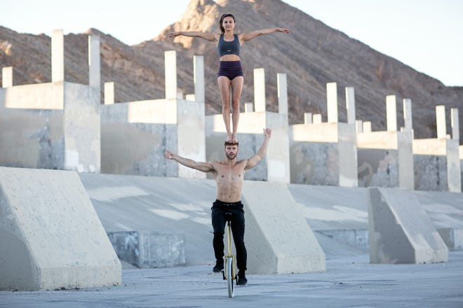 """Marie-Lee and Philippe, who perform on unicycle and in a balancing act, will perform in the Circus Arts Conservatory's """"Prevail"""" show. They were contestants on """"America's Got Talent"""" in 2016."""