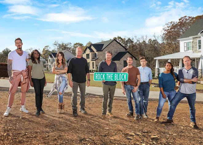 "Mika and Brian Kleinschmidt, right, the Tampa Bay couple who host ""100 Day Dream Home,"" join other HGTV stars in the second season of the design competition series ""Rock the Block."""
