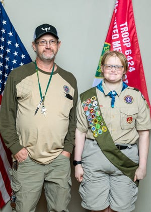 Tecumseh resident and Eagle Scout Jillian Thiemann with her father David Thiemann.