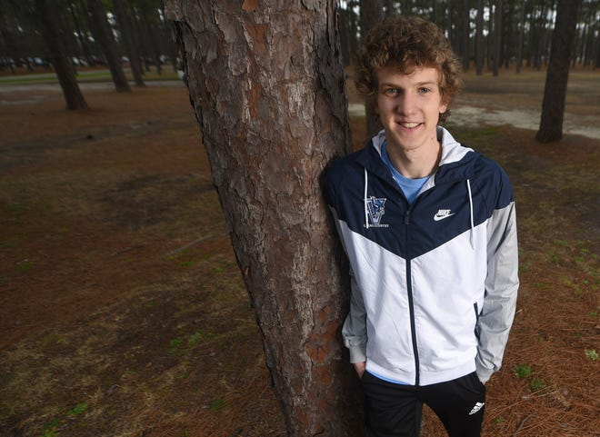 Hoggard's Andrew Thompson, shown at Long Leaf Park in February, is the StarNews All-Area Boys Cross Country Runner of the Year.