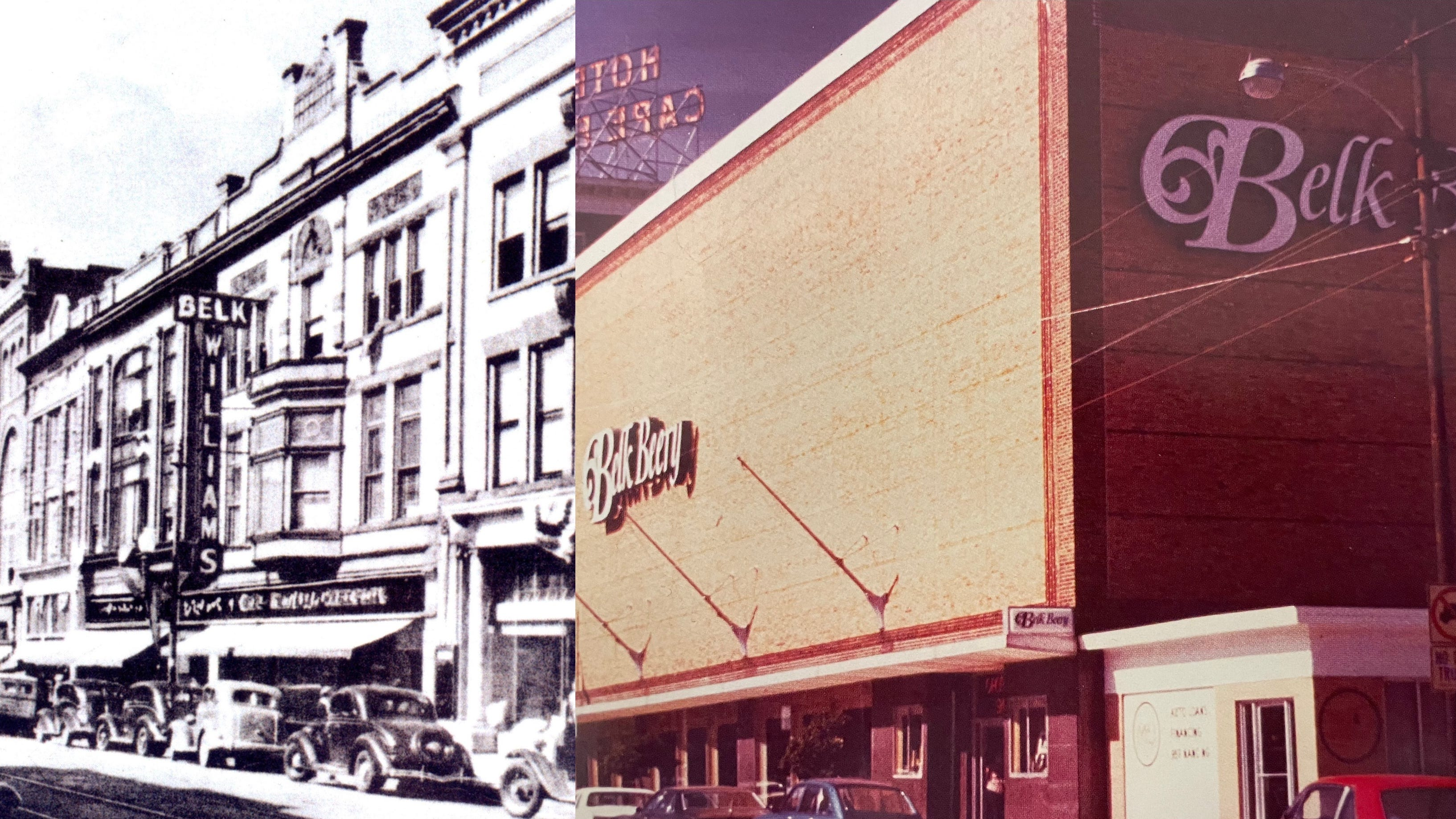 The Belk-Williams store on North Front Street in the early 1900s and the Belk-Beery Building on Chestnut Street were two of the defining department stores in downtown Wilmington.