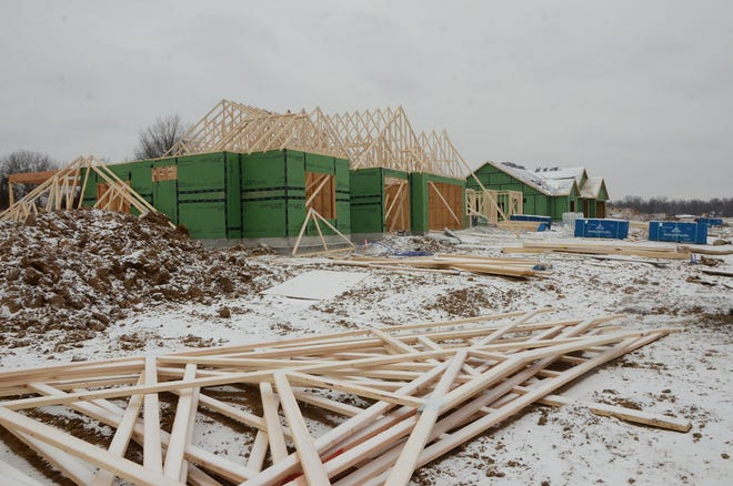 Construction recently started on several homes at Silverback Landing in Pittsburg.