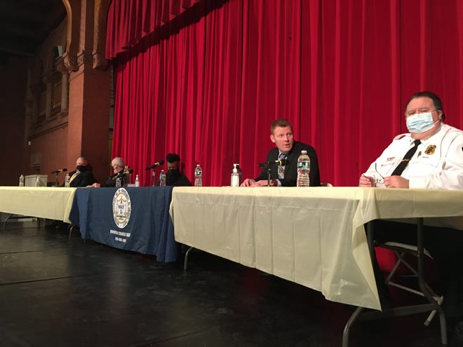 Robertsine Duncan NAACP Youth Council forum on policing held at Norwich Free Academy's Slater Auditorium