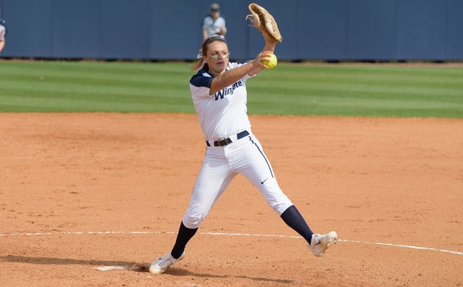 Aubrey Reep, a Cape Fear High School graduate, is the all-time strikeout leader for Wingate's softball program.
