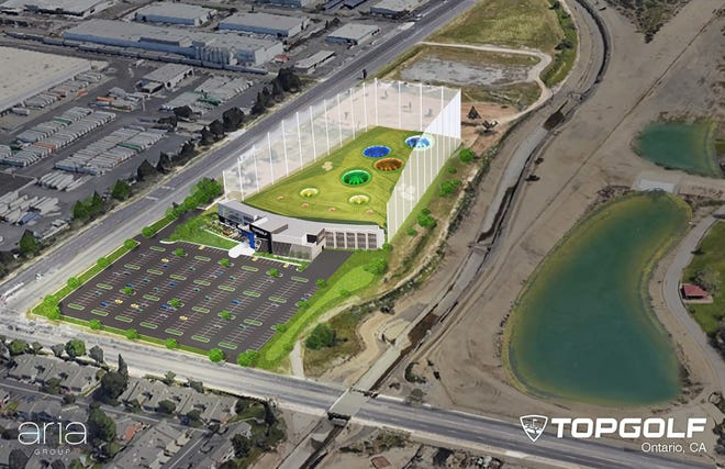A Topgolf sports entertainment complex is planned for the corner of Archibald Avenue and Fourth Street in Ontario. The 600,000-square-foot venue is expected to open in 2022 on land owned by San Bernardino County.