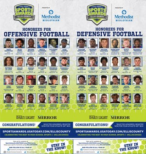 The 2020-2021 Ellis County High School All-Star football teams.
