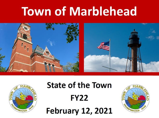 Marblehead Town Administrator Jason Silva presided over the 2021 State of the Town presentation on Friday, Feb. 12, 2021.
