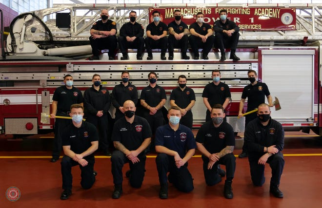 State fire marshal Peter J. Ostroskey and deputy state fire marshal Maribel Fournier announced on Feb. 5 the graduation of the three classes that completed the Massachusetts Firefighting Academy's 50-day career recruit firefighting training program, including class #289 with a member from Burlington. Shane Yandle of the Burlington Fire Department was among the graduates. Pictured, is class #289.