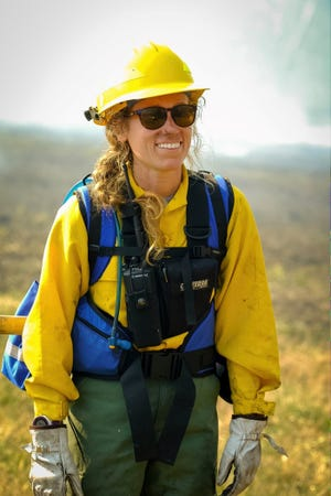 Alix Pfennigwerth maps and surveys wetlands and collects data from forest monitoring plots as a biological science technician with the Inventory and Monitoring program at Great Smoky Mountains National Park.