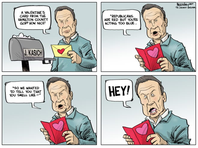 John Kasich isn't feeling the love from fellow Republicans this Valentine's Day.