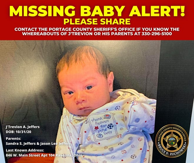 Police in northern Ohio have issued a statewide missing baby alert Friday to find a 4-month-old baby considered missing.