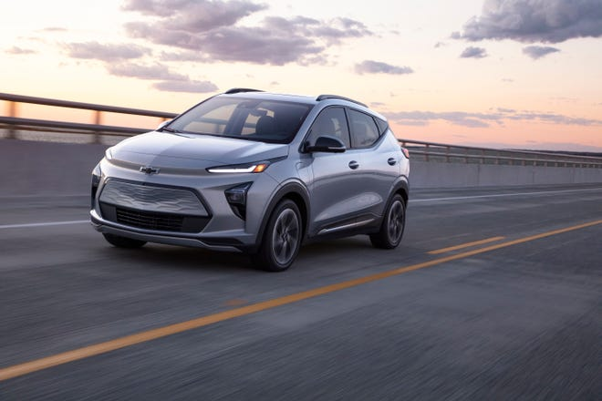 Chevrolet revealed on Feb. 14, 2021 the all-new 2022 Bolt EUV, an all-electric utility vehicle. It goes on sale in the summer.