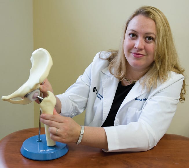 Medical director of the Cayuga Center for Orthopedics, Deidre Blake, MD