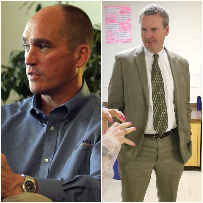 Wauwatosa School District superintendent Phil Ertl (left) and West Allis-West Milwaukee superintendent Marty Lexmond (right) sent a letter to Republican state senator Dale Kooyenga and Republican state representative Joe Sanfelippo criticizing their letter to return to full in-person learning and moving state funds to districts that do so.