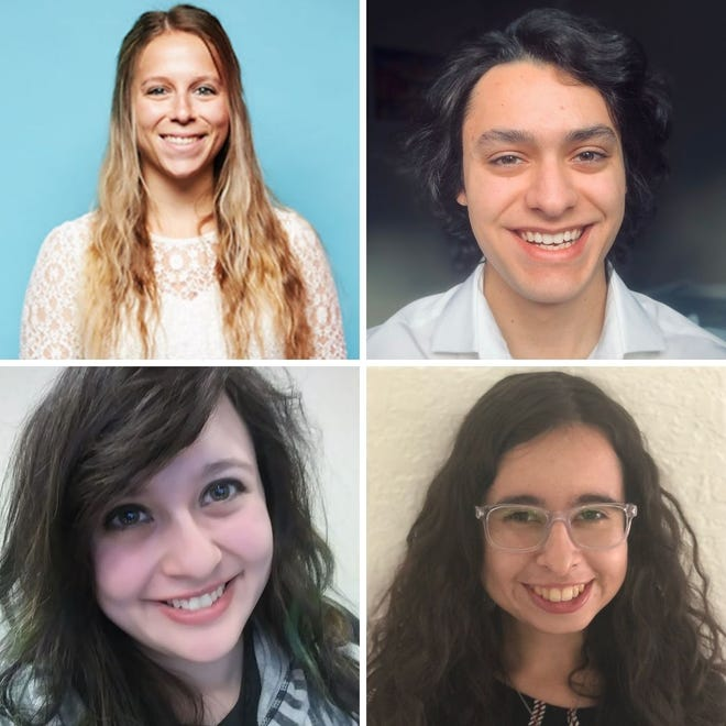 Clockwise from top left: New Mexico State University computer science students Nicole Price, Maximino Robles, Kami Otero De Owens and Catalina Sanchez Maes named 2020 Great Minds in STEM scholars.