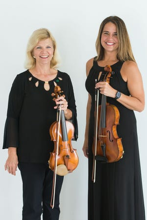 """Pamela Davis, assistant concertmaster (left), and Kirsten Weingartner Weiss, principal violist (right), are the two soloists on """"Sinfonia Concertante,"""" a double concerto the Springfield Symphony Orchestra will perform Saturday, Feb. 20."""