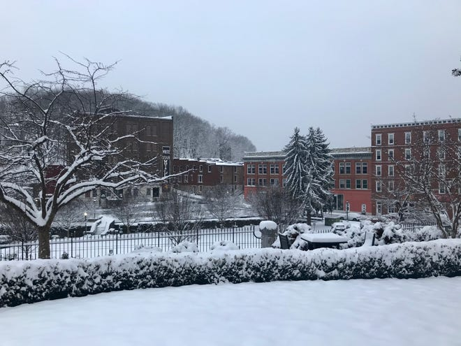 Early morning after snowfall in downtown Staunton on Friday, Feb. 12, 2021.