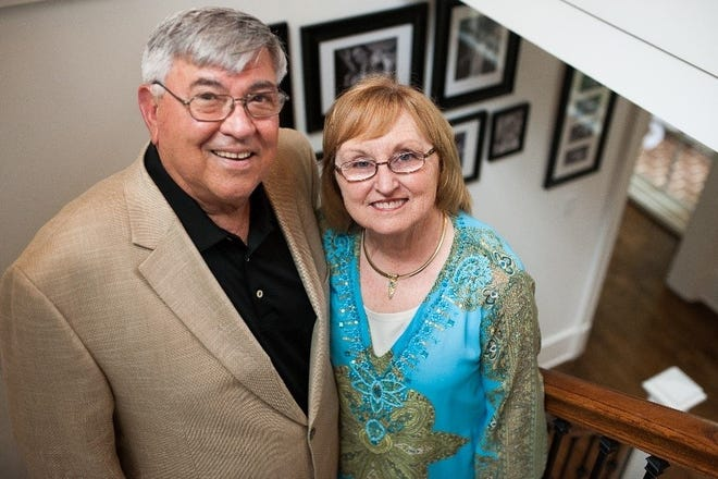 Doug and Karen Smith. Doug died in January after a fight with cancer.