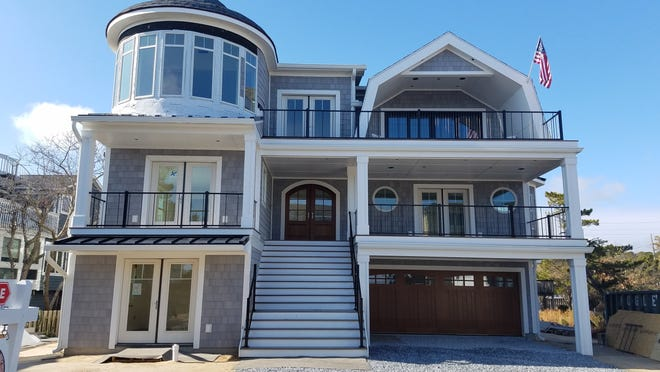This new home at 1 Dune Road in Bethany Beach features ocean views, one lot from the beach.