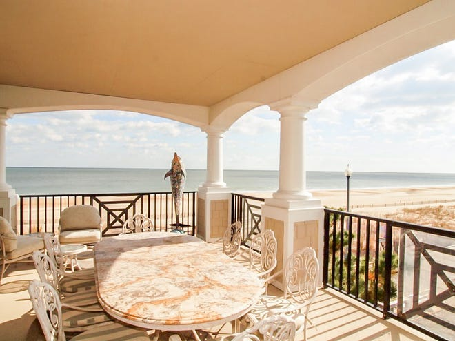 The view from the porch of the oceanfront home for sale at 319 S. Boardwalk #2, Rehoboth Beach.