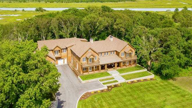 This home on Tarpon Drive near Lewes is 12,360 square feet on more than an acre.