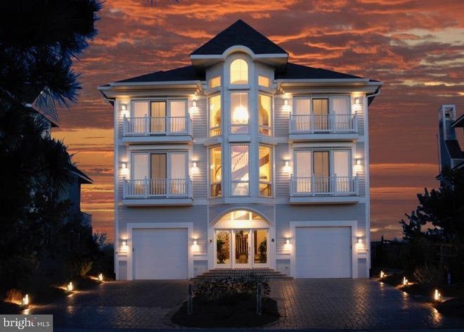 This oceanfront home on North Ocean Way in Bethany Beach is listed for $5,475,000.