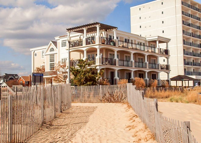 The home at 319 S. Boardwalk #2 in Rehoboth Beach is a 4,615-square-foot oceanfront condominium encompassing the entire second floor.