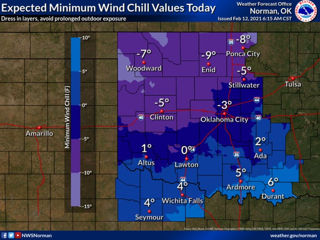With dangerous wind chill expected for the next several days, the National Weather Service advises to dress in layers and avoid prolonged outdoor exposure.