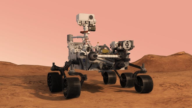Mars Perseverance rover in augmented reality