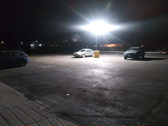 People living in their cars can park overnight in this lot  in Longmont, Colorado through a program run by HOPE Homeless Outreach.