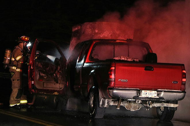 The Ashland Fire Department, Ashland County Sheriff's Office and Ashland Post of the State Highway Patrol responded to a vechile fire Friday evening in the 600 block of U.S. Route 42.