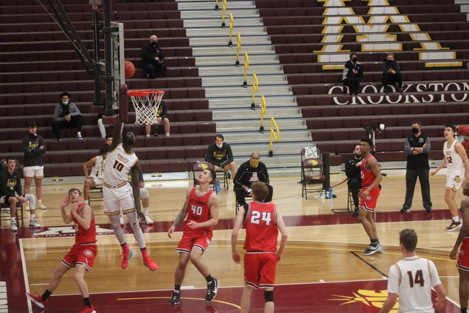 Ibu Jassey Demba scored 14 points and grabbed seven rebounds in Minnesota Crookston's 74-70 loss to St. Cloud State Friday evening.