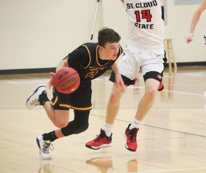 Zach Westphal and the Minnesota Crookston men's basketball team fell 78-59 to St. Cloud State Saturday afternoon.