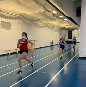Hornell opened up its indoor track season Thursday at Haverling, the firsttrackmeet on Bath'sindoortrackabove the basketball court.