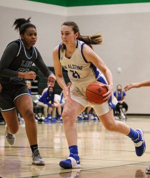 Van Alstyne's Kylie Allen scored 25 points during the Lady Panthers' bi-district loss to Ranchview.