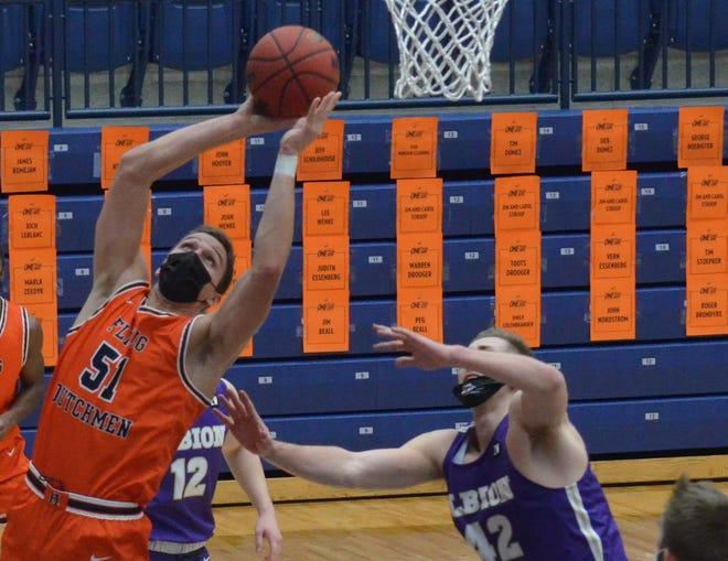 Preston Granger led the Hope men's basketball team past Adrian on Thursday.