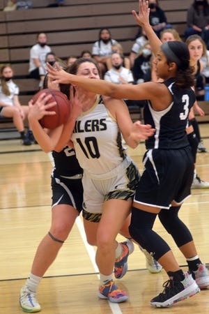 Newton senior Marah Zenner scored 12 points Friday in a loss to Maize South.
