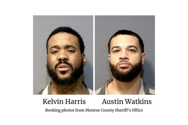 Kelvin Harris and Austin Watkins booking photos