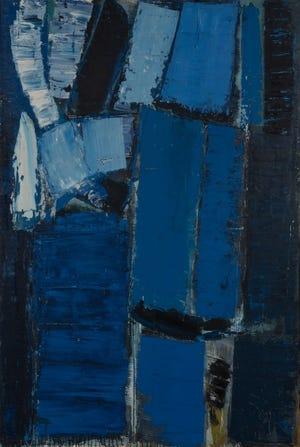 Olivier Debré's Personnage Fonce (Bleu Bleu Noir).