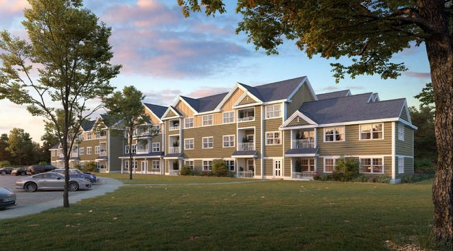 The York Planning Board gave final approval Feb. 11, 2021, for a York Housing Authority workforce housing development at 296 U.S. Route 1 in York, Maine. This artist rendering by THA Architects LLC, which was presented with an application for the board's approval, shows Phase 1 of the project.