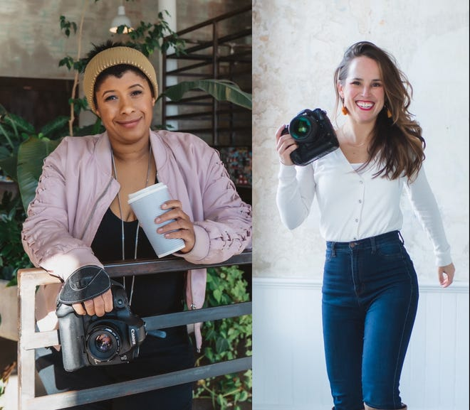 Local photographers Brittanny Taylor, left, and Bethany O'Connor are helping women celebrate their strength and beauty through boudoir portraits.