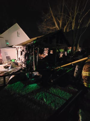 Alliance firefighters responded to a fatal fire about 5 p.m. Friday on S Liberty Avenue. An apparent explosion occurred in a garage.