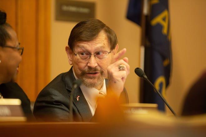Sen. Bud Estes, R-Dodge City, died Saturday morning after a prolonged illness.