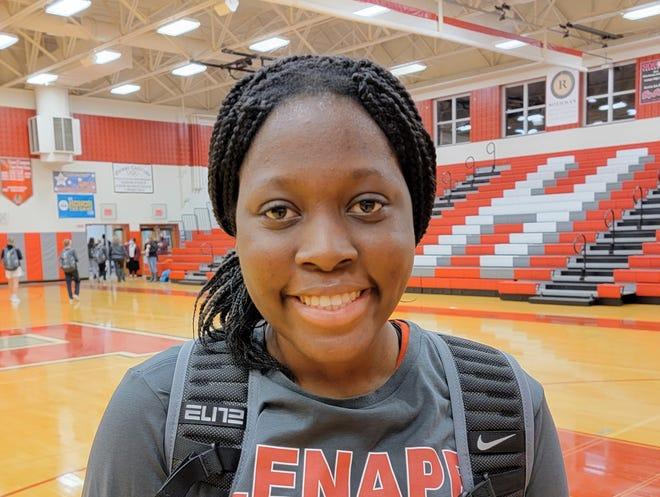 Lenape senior Dyonna Wess is a forward for the 2021 Indians girls basketball team.